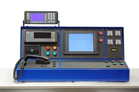 panel de control: Mesa consola Dispatcher en la sala de control
