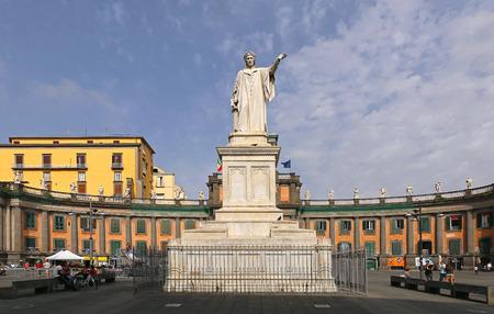 dante alighieri: NAPLES, ITALY - JUNE 25: Piazza Dante in Naples on JUNE 25, 2014. Dante Alighieri monument and Convitto Nazionale Vittorio Emanuele in Napoli, Italy. Editorial