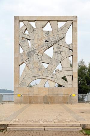 fascist: ROVINJ, CROATIA - OCTOBER 16: WWII Memorial Monument in Rovinj on OCTOBER 16, 2014. For fallen Soldiersand Victims of Fascist Terror in Rovinj, Croatia.