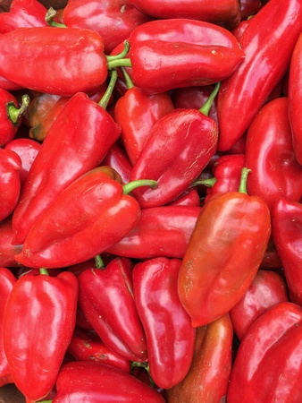 bellpepper: Big Bunch Of Ripe Red Peppers Vegetables