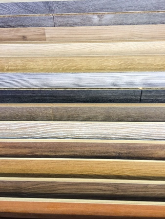 tile: Laminate Wood Flooring Colors And Materials Stock Photo