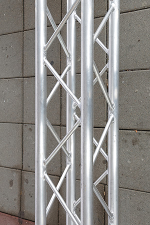 girder: Metal girder beam for stage structure support Stock Photo