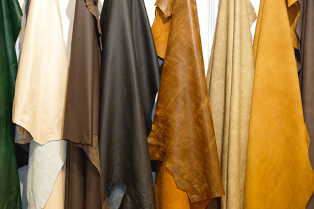 pelt: Leather pelt color raw material hanging