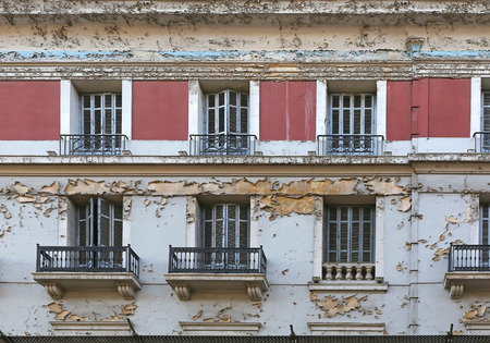 building exteriors: Neglected and Abandoned Building Urban Decay in Athens Greece