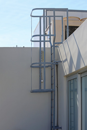 building exteriors: Fixed Ladder Externaly Mounted For Roof Access