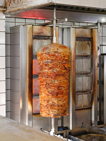 Vertical Grill with Greek Pork Gyros