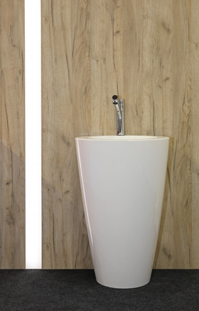 free standing: Free Standing Ceramic Wash basin in Contemporary Bathroom