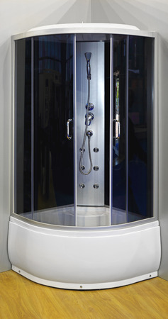 cabine de douche: Cabine de douche contemporain en coin
