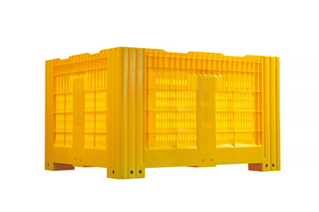 container box: Plastic Pallet Container Isolated Included Clipping Path