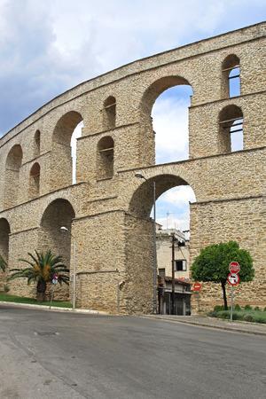 aqueduct: Roman Aqueduct at Nikotsara sSquare in Kavala