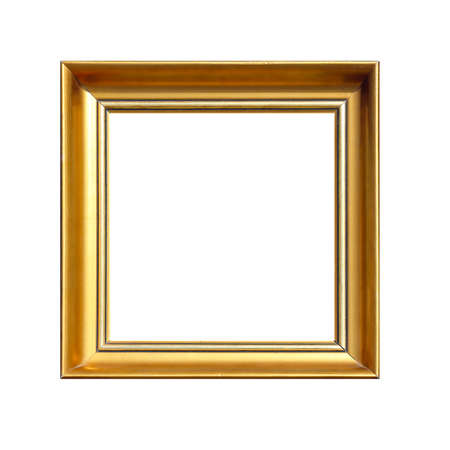 cuadrados: Gold Square Frame Isolated Included Clipping Path