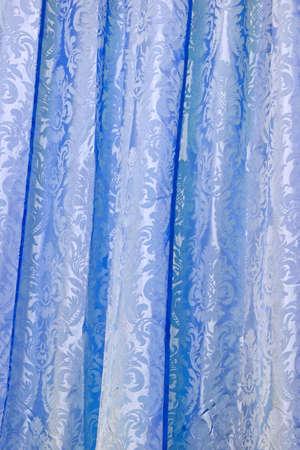 finest: Blu cortina migliori ottenuti da materiale stoffa