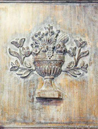 craftwork: Vintage look of engraved wooden board craftwork