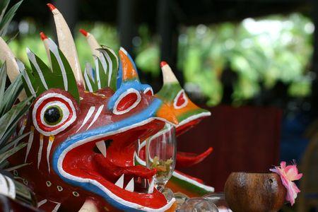 パナマの悪魔のマスクです。 写真素材