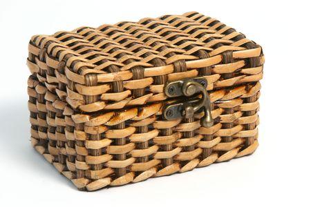 elaboration: A woven bamboo chest.