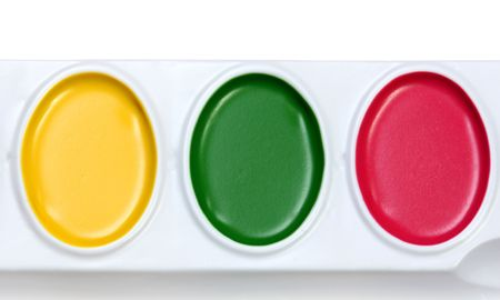 stimuli: Watercolors isolated on a white background. Stock Photo