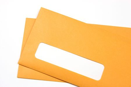 Pair of manila envelopes with a blank address space photo