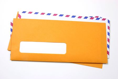 Many envelopes with a blank address space photo