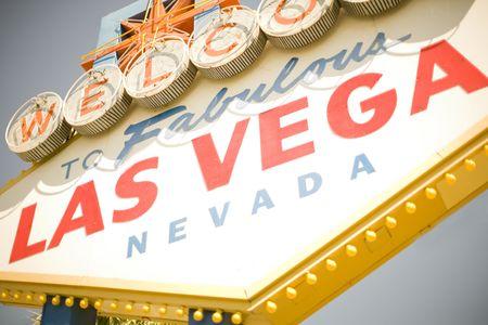 Original Las Vegas welcome sign  Stock Photo