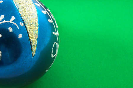 velvet background: christmas ball in green velvet background