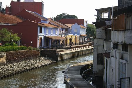 A view of Melaka River in Malaysia.