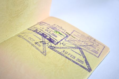 Passport with Stamps photo