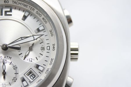 Close-up of A sport watch on off white background. Stock Photo