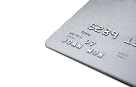 close up of a credit card.