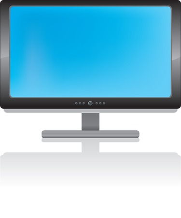 LCD display in vector file. Illustration