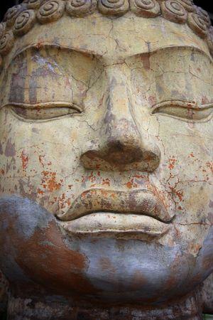 An ancient stlye big face sculpture. Stock Photo - 2585541