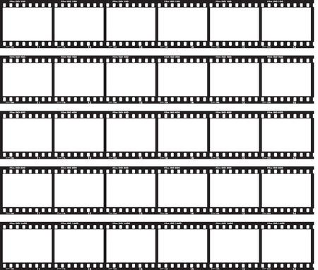esporre: Tradizionale striscia di pellicola con la norma ISO etichetta e numeri a lato.