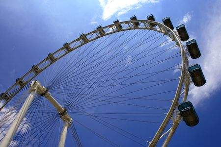 marry go round: The Flyer, the highest Giant wheel in South East Asia.