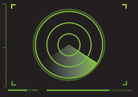 Radar meter in vector graphic.