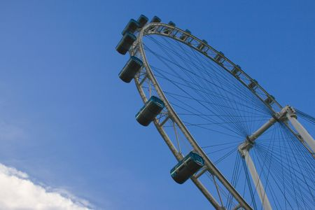 marry go round: The Singapore Flyer, the biggest Giant wheel in the world. Editorial