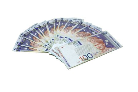 RM100 Notes which can use in design. Stock Photo
