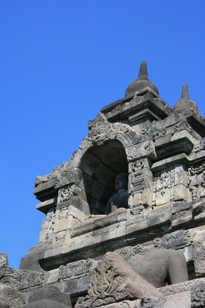 Part of architecture in Borobudur, Indonesia. photo