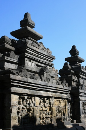 Part of architecture in Borobudur, Indonesia. photo
