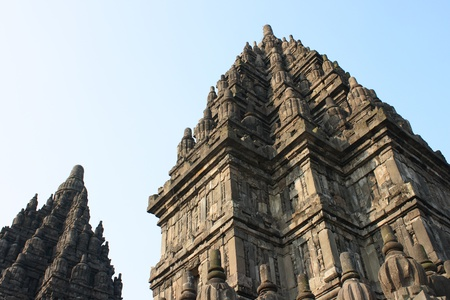 Part of architecture Hindu temple Prambanan. Indonesia, Java, Yogyakarta photo