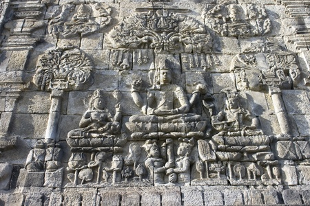 Wall Craft found in a temple near Borobudur. photo