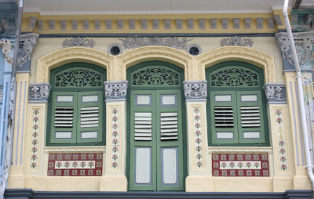 Old Style Window found in street of Singapore