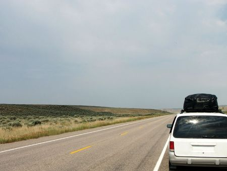 Vacation in Wyoming - Endless Highway Stock Photo - 484572