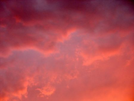 Sunset Pink Clouds - at dusk over the Flaming Gorge Lake, Wyoming (no color change)