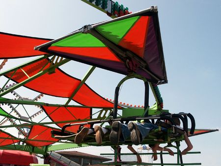 queasy: County Fair Glide - Double-spinning ride