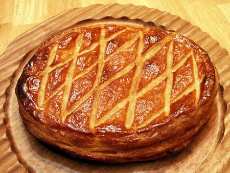 christmas paste: Galette - Twelfthe Night Cake, or Galette des Rois in French, is a puff pastry filled with frangipane - rich almond cream - and is served only once a year on the day of Epiphany, which is traditionally 12 days after Christmas.
