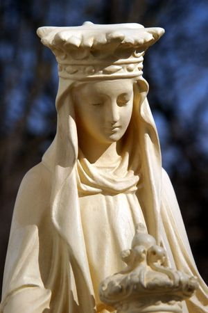 unveil: Our Lady of the Sacred Heart - Notre Dame du Sacre-Coeur, originating from the pilgrimage town of Issoudun, Indre, France. Stock Photo