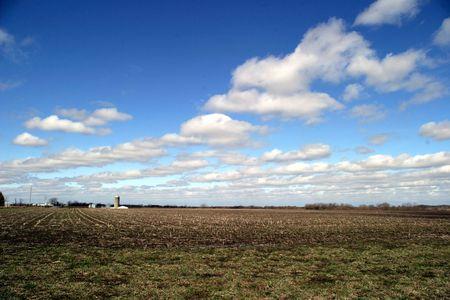 Farmland 1 - SE Iowa field in April on a very windy day