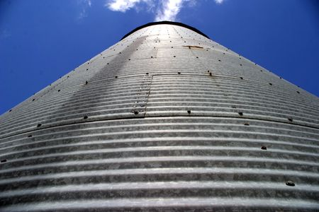 storage bin: Silos 4 - SE Iowa Stock Photo