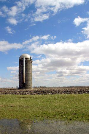 Silo 1 - SE Iowa Stock Photo - 500170