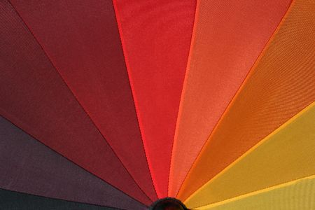 rainbow umbrella: Rainbow Umbrella 5 - Close-up around red color Stock Photo