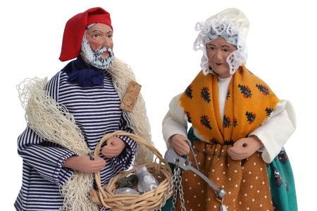 figurines: Santon Figurines - close-up - Christmas Provence